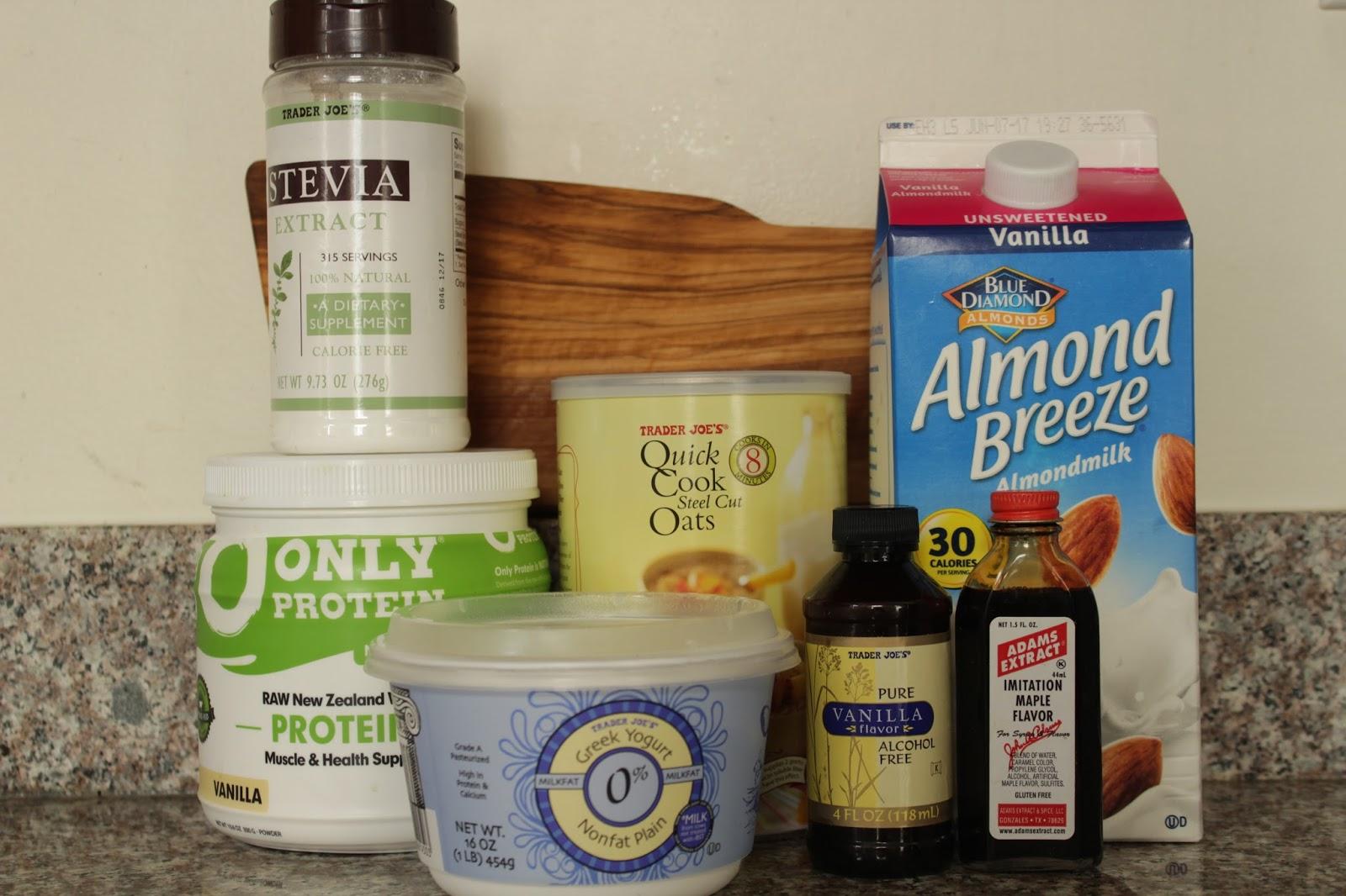 Overnight Cake Batter Protein Oats
