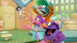 Abby's Flying Fairy School Pandora's Lunch Box, Abby Cadabby, Blögg, Gonnigan, Pandora, Sesame Street Episode 4414 The Wild Brunch season 44