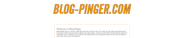In Ping, my blog is an easy way like the Total Ping tool.