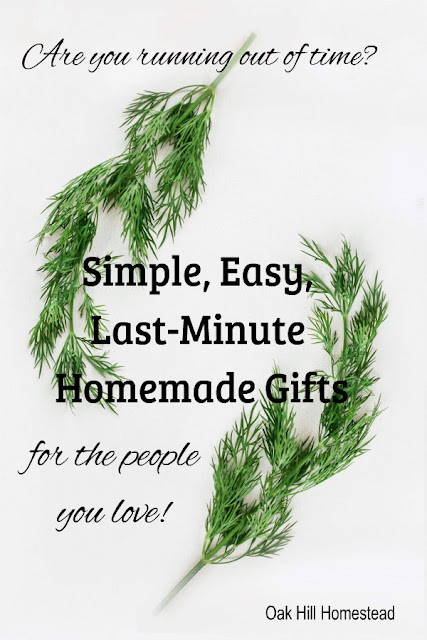 These simple, quick, easy-to-make handmade gift ideas include some last-minute ideas too.