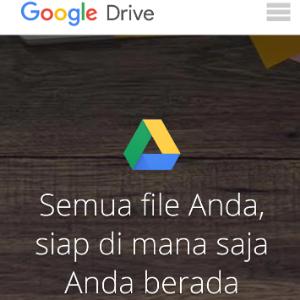 Cara menyimpan data ke google Drive di hape android