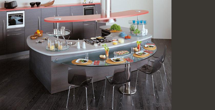 C mo integrar una mesa en la cocina cocinas con estilo for Altura barra cocina