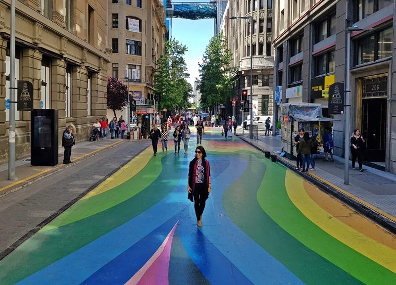 O que fazer em Santiago: Paseo Bandera