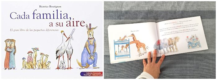 Cuento, libro infantil Cada familia a su aire, diversidad familiar