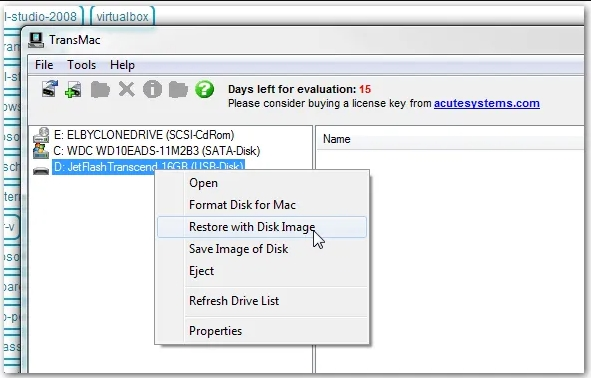 Create Bootable Mac OS USB using TransMac