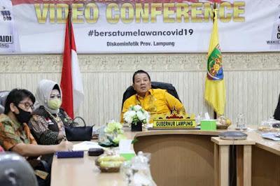Gubernur Arinal Bahas Lomba Inovasi Daerah Demi Siapkan Tatanan Nasional Baru Produktif dan Aman Covid-19