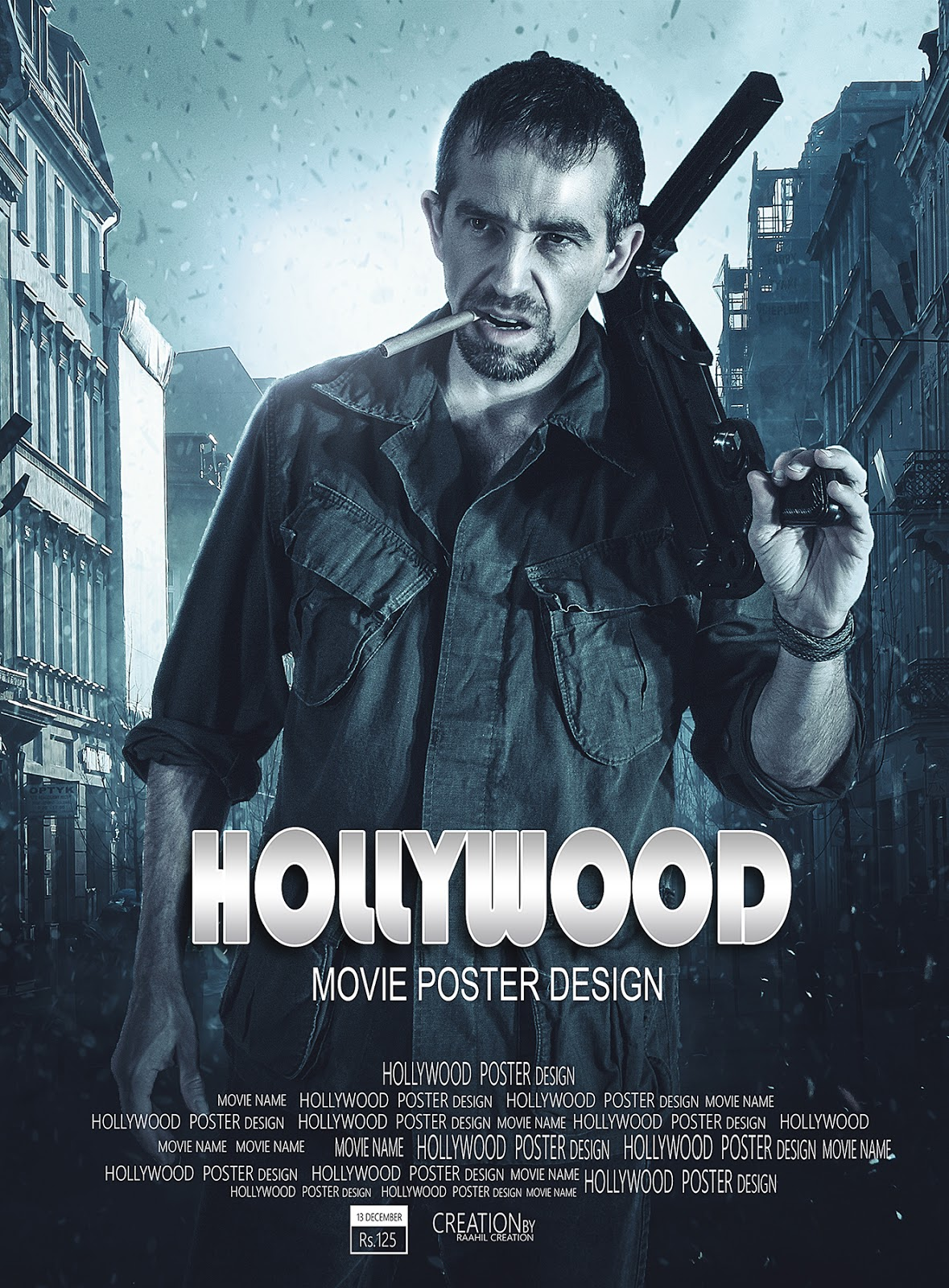 Hollywood Movie Poster Design - Photoshop Tutorial -1363