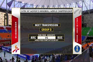 IHF Women's Handball World Championship Eutelsat 10A Biss Key 2 December 2019