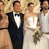 Σάκης Τανιμανίδης - Χριστίνα Μπόμπα ποζάρουν στο γαμήλιο πάρτι του Ατζούν (video+photos)