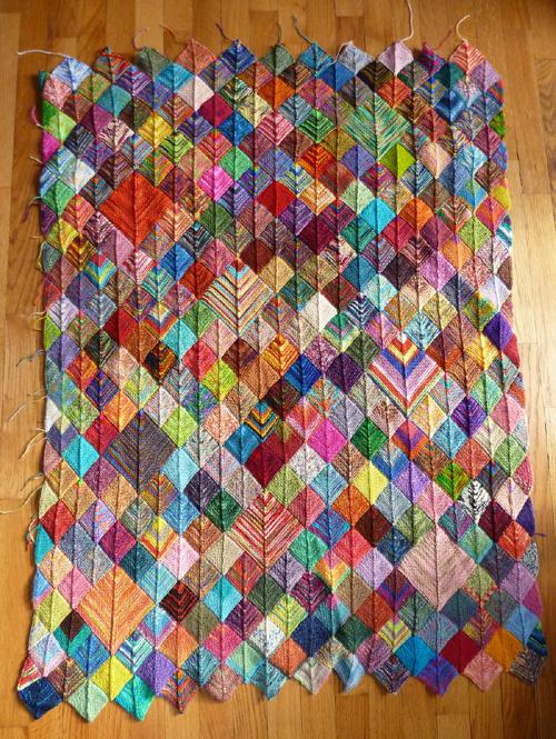 Sock Yarn Blanket - Free Pattern