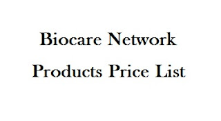 Biocare Network Products Price List 2020