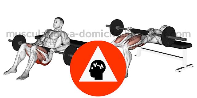 exercice musculation fessiers hip thrust avec lest