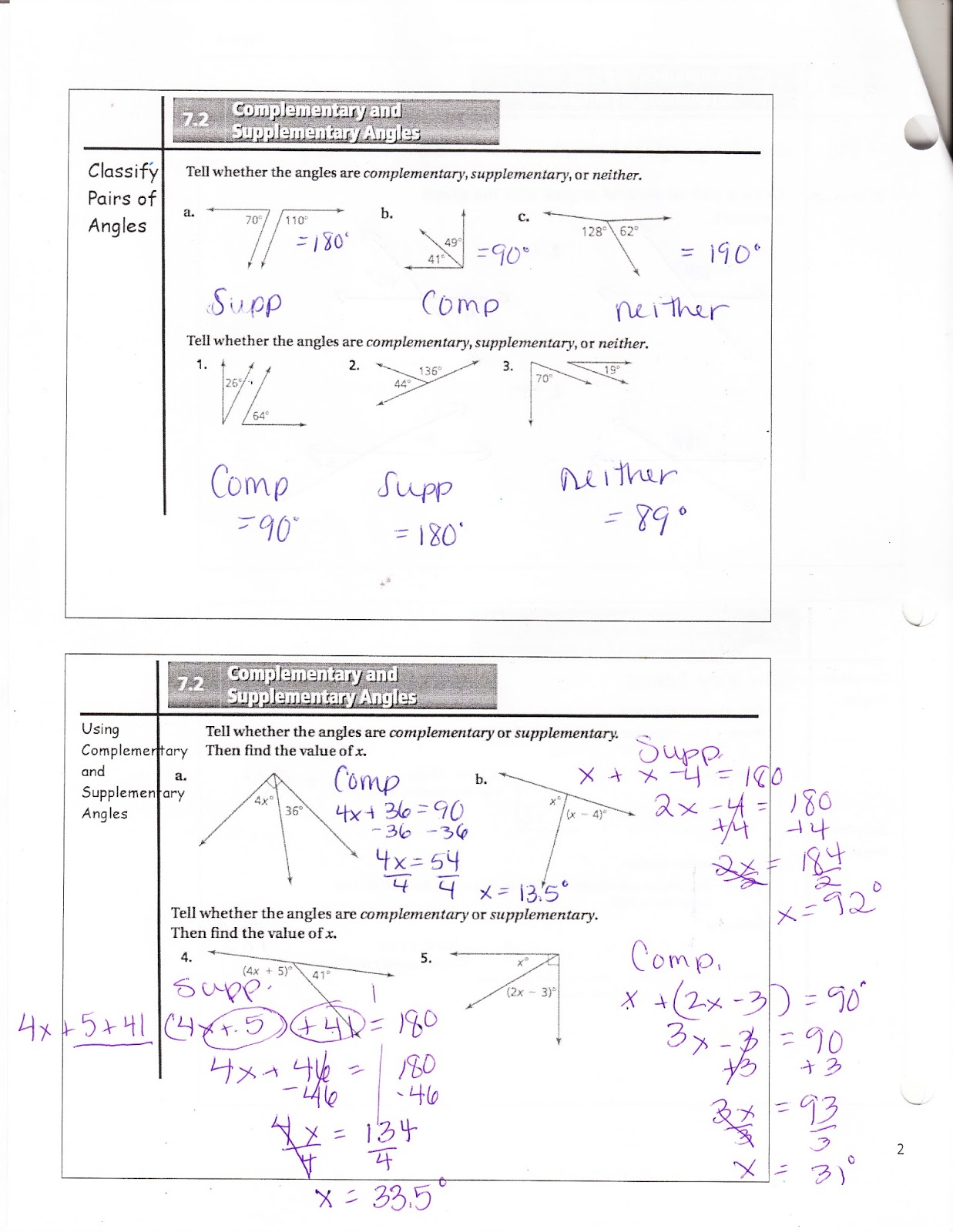 Ms Jean S Classroom Blog Math 7 7 2 Complementary And