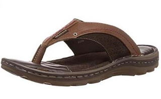 Lee Cooper Men's Leather Flip Flops Thong Sandals