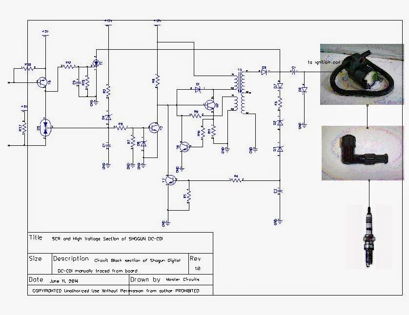 Cdi circuit wiring diagram