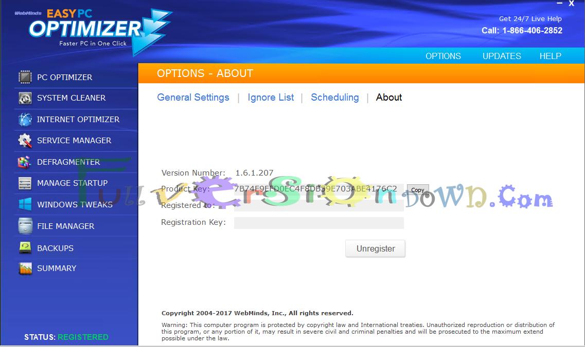 Easy Pc Optimizer 1 6 1 207 Latest Full Fullversiondown Com