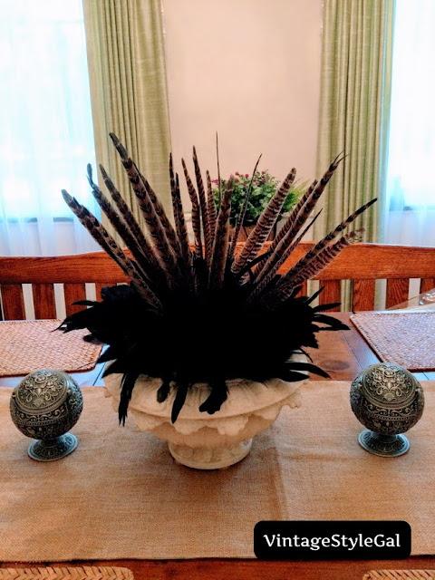 Fall feather arrangement