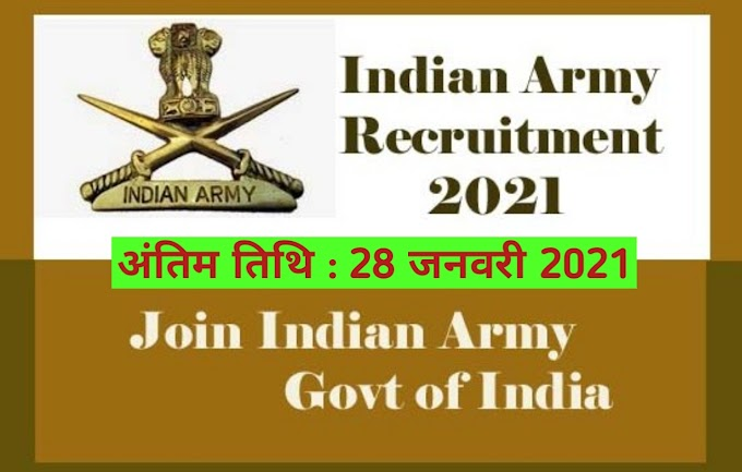 Indian Army NCC Recruitment 2021 Apply online
