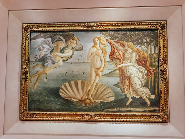 The Birth of Venus Painting The Uffizi Gallery Florence