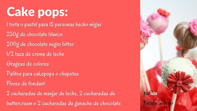 cake pops ingredientes