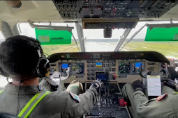 Bantu Pencarian Kapal Hilang dan Tenggelam di Perairan Pontianak, Pesawat TNI AL Ikut Patroli