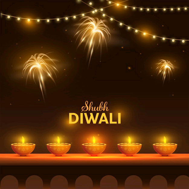 happy diwali images with fireworks