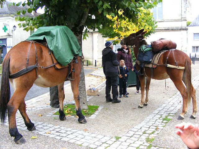 Pilgrims with mules, Indre et Loire, France. Photo by Loire Valley Time Travel.