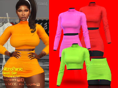 Neon Set For The Sims 4