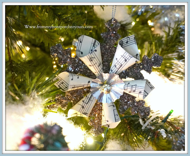 Cottage -Farmhouse -Christmas-Trees-Snowflake-Ornament-From My Front Porch To Yours
