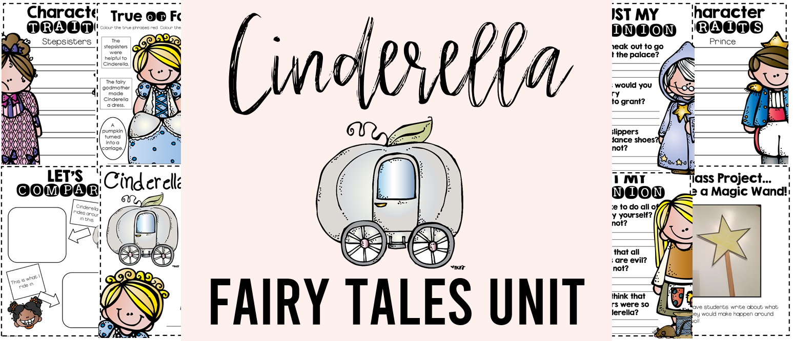 Fairy Tales unit featuring Cinderella, The Three Pigs, Goldilocks and the Three Bears, Little Red Riding Hood, The Frog Prince, and Jack and the Beanstalk. Packed with lots of fun literacy ideas and guided reading activities. Common Core aligned. Grades 1-3. #fairytales #literacy #guidedreading #1stgrade #2ndgrade #3rdgrade