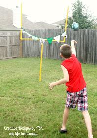 my life homemade: DIY Backyard Football Practice Goal Post