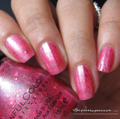 nail polish swatch of Piece Out Pink by sinfulcolors