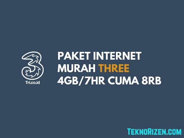 Paket Internet Murah 3 Tri 4GB Cuma Rp 8000 Berlaku 7 Hari Terbaru