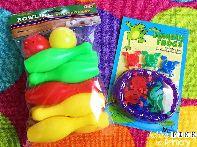 Dollar Tree - Bowling Set/Trousse and Jumping Frogs