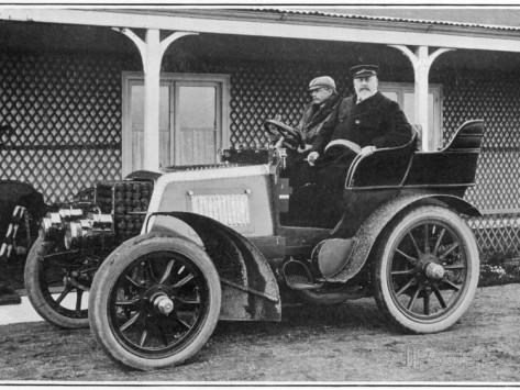 King Edward VII in his Daimler