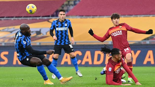 ملخص مباراة روما وانتر ميلان (2-2) في الدوري الايطالي