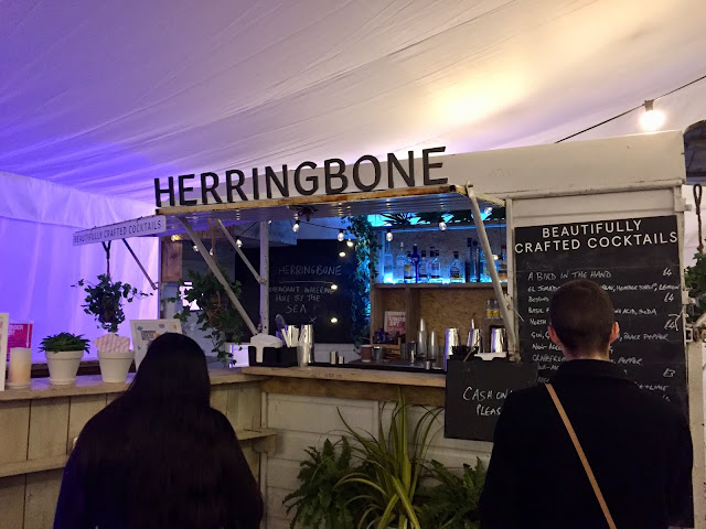 Herringbone Horsebox pop up bar at Edinburgh Cocktail Village