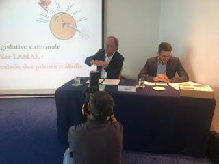 Yves Nidegger présente la nouvelle initiative à la presse