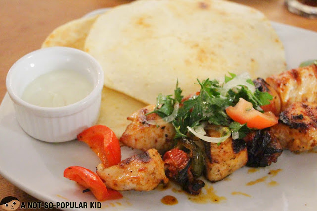 Chicken Souvlaki of Cyma Greek Cuisine