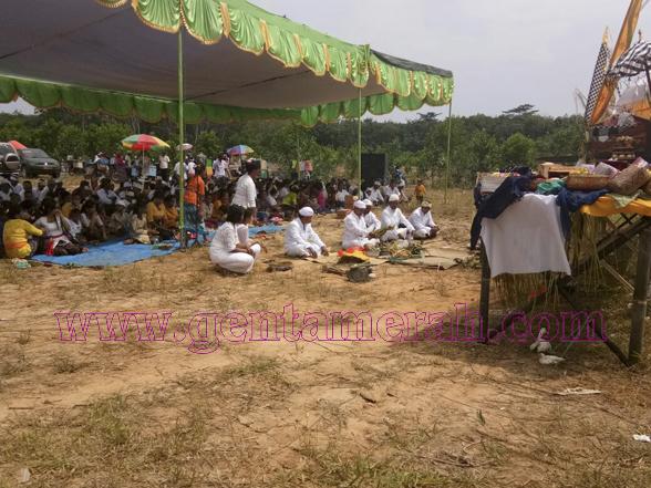 Umat Hindu Mesuji Gelar Melasti Didua Lokasi