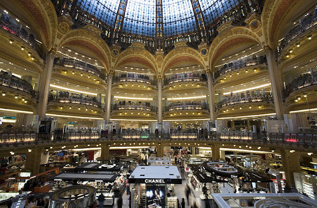 Galeries Lafayette Haussmann, Paris: the central rotonda