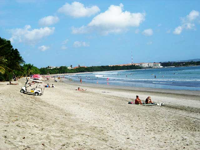 Bali's Kuta Beach with white sand
