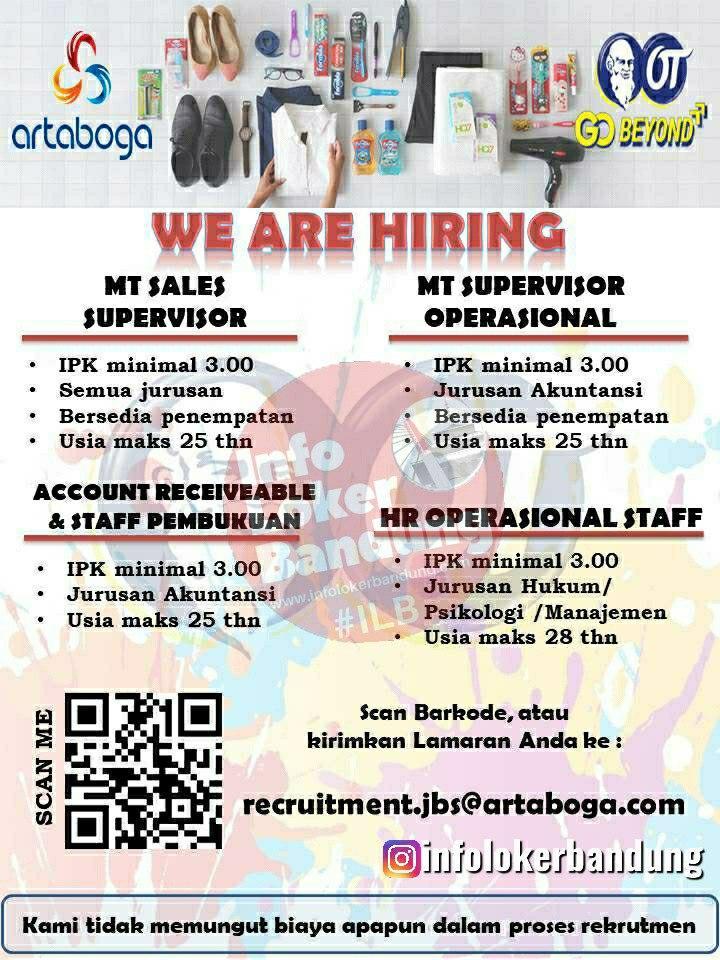 Lowongan Kerja PT. Artaboga Cemerlang ( Orang Tua Group) Bandung Juni 2020