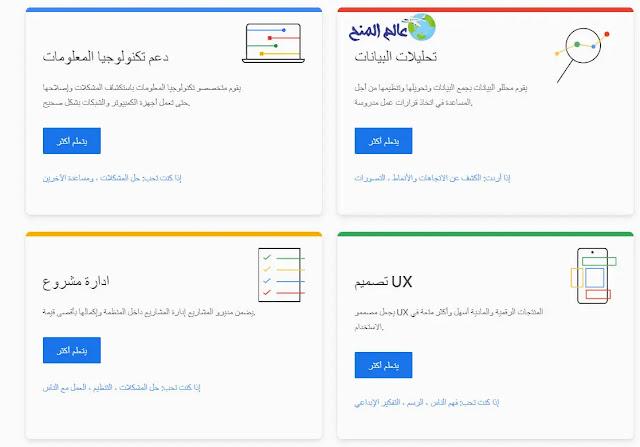 كورسات جوجل Google  بالتعاون مع موقع كورسيرا Coursera
