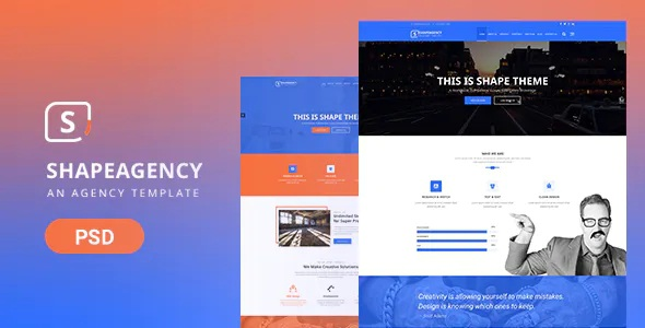 Best Agency PSD Theme