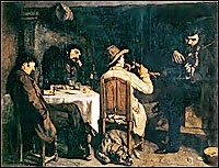 Gustave Courbet's After Dinner at  Ornans