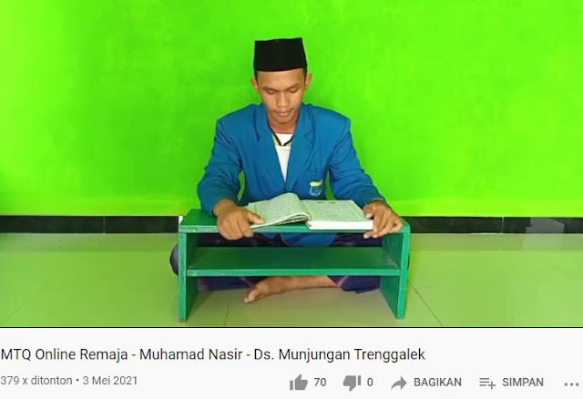 Mahasiswa Prodi PAI Juara Lomba MTQ Festival Ramadhan Virtual