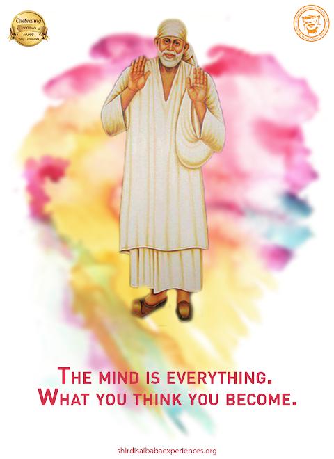 Mind Is Everything - Sai Baba With Jholi Painting Image