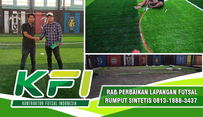 RAB Perbaikan Lapangan Futsal Rumput Sintetis