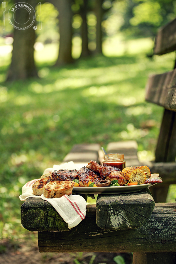 juta piletina (u bbq sosu) na roštilju